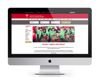 thinkBooker boosts Welsh Rugby Camps bookings