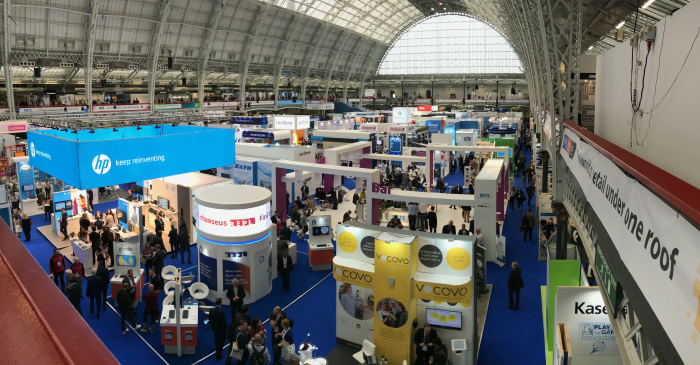 An image of a busy exhibition centre.