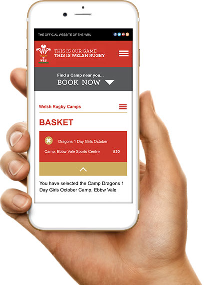 mobile version of the WRU booking system