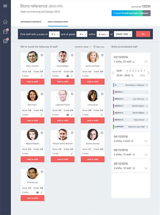course booking system dashboard