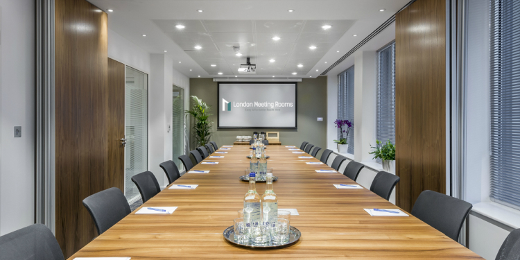 A Corporate meeting room
