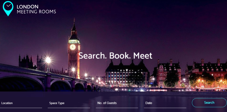 London Meeting Rooms website home page