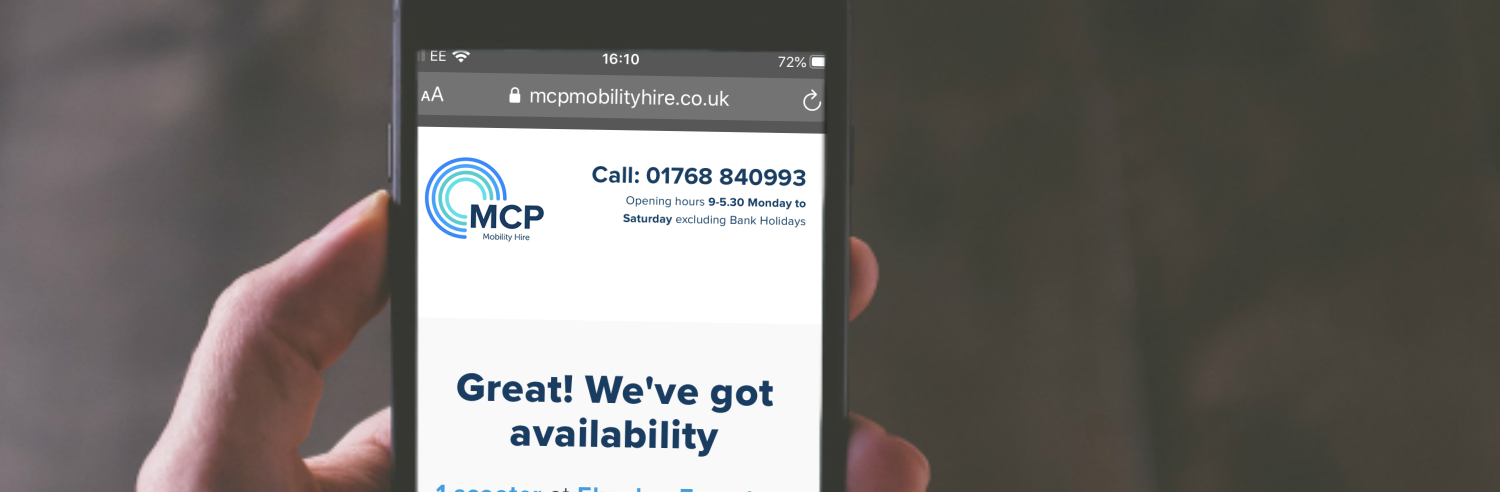 MCP Mobility Hire booking system